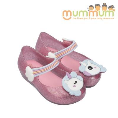 Mini Melissa 2018 Unicorn pink glitter us 7-10