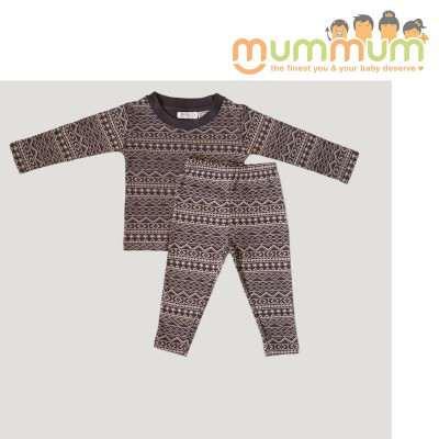 Jamie Kay Pyjama Christmas Set - Dark Grey 100% Organic Cotton