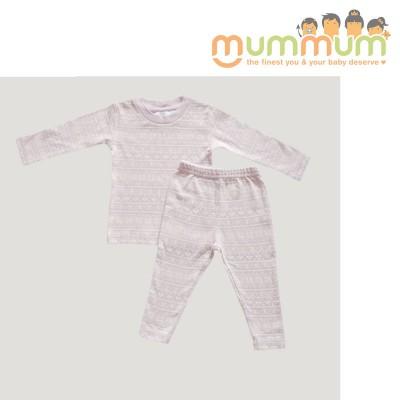 Jamie Kay Pyjama Christmas Set - Old Rose 100% Organic Cotton