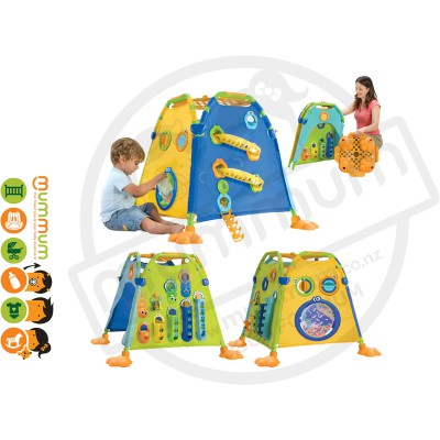 Yookidoo Discovery Playhouse-Activities Inside&Out Play Tent