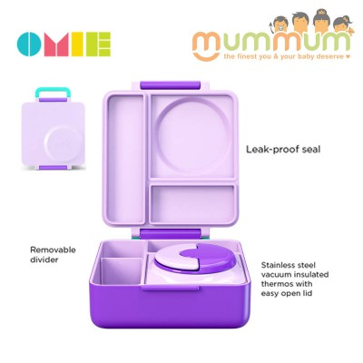OmieLife Purple Plum OmieBox Lunch box With Thermal Food Jar