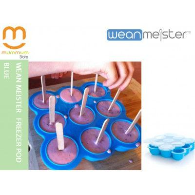 Wean Meister Freezer Pod Blue Baking Tray with Lid 9 x 75ml