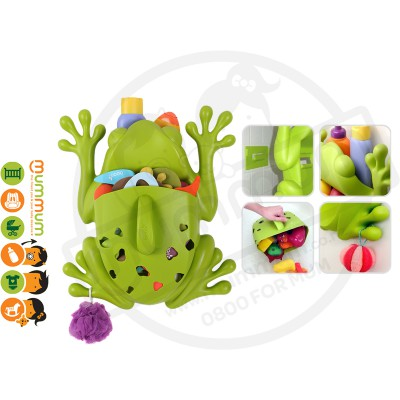 Boon Frog Pod Bath Toy Storage Organizer