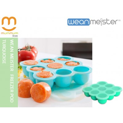 Wean Meister Freezer Pod Turquoise Baking Tray with Lid 9 x 75ml