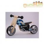 Udeas min police bike Mini Runna Balance Bike 3 Wheels or 2 Wheels