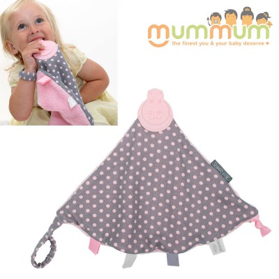 Cheeky Chompers Comfortchew Polka Dot Pink Teether