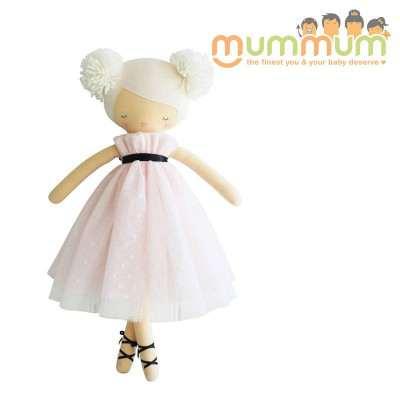 Alimrose Scarlett Pom Pom Doll Pink 48cm