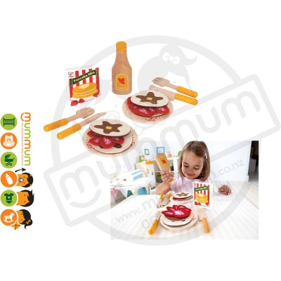 Hape Kids Pretend Play Wooden Fun Yummy Pancakes