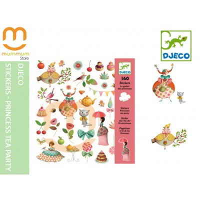 Djeco Stickers Pincess Tea Party