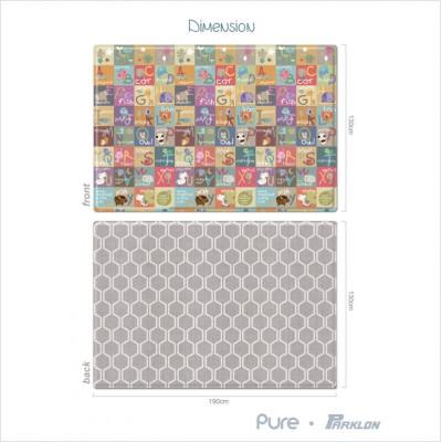 Parklon Pure Play Mat Animal A-Z Honey Comb M15 1300*1900*15mm