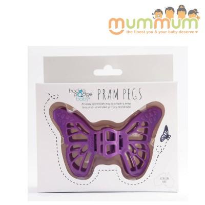 Peggles Pram Pegs Hodge Podge Baby - Purple Muslin Pegs