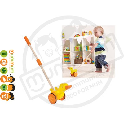 Hape Duck Push-Along Wooden Toy