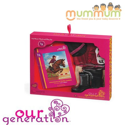 Our Generation Read & Play Set Lily Annas Riding