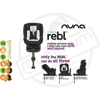 Nuna REBL Plus 360° Rotating Swivel Carseat ISOFIX From Newborn Up to 4Y