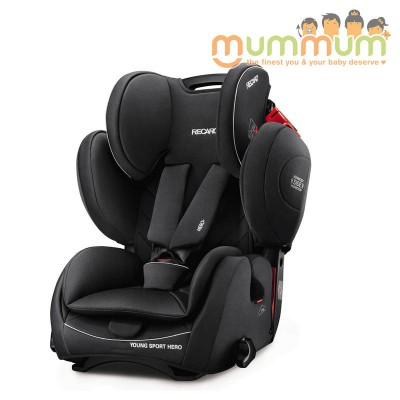 Recaro Young Sport Performace Black For 9month-12Years Made in Germany