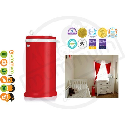 Ubbi Powdered Steel Diaper Pail - Red