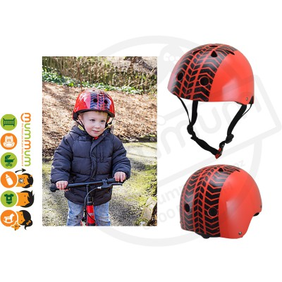 Kiddimoto Red Tyre Helmet  SizeS48-53cm / SizeM53-58cm