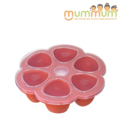Beaba Silicone Multipurtions 6 X 150ml Paprika Red Freezer Tray
