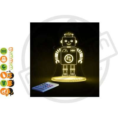 Aloka Night Light Robot Multi Colour With Remote Control
