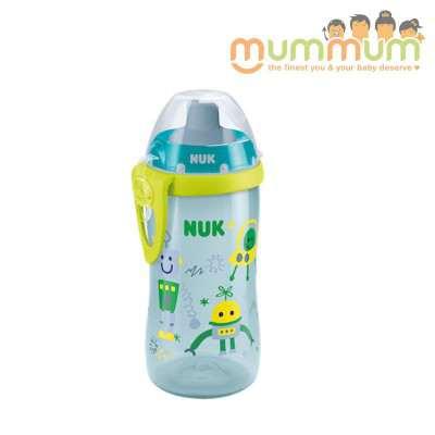Nuk Flexi Cup Soft Straw Light Green Robot 300ml