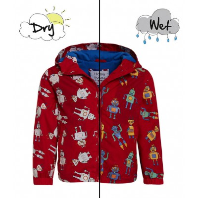 Holly and beau Raincoat Robot Red Color Changing 2-8Y