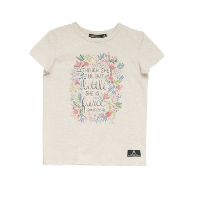 Rock your baby Fierce ss T shirt Sand Marle 4Y-8Y