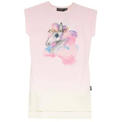 Rock your baby Rainbow Brumby-drop shoulder dress Cream/Light 2Y