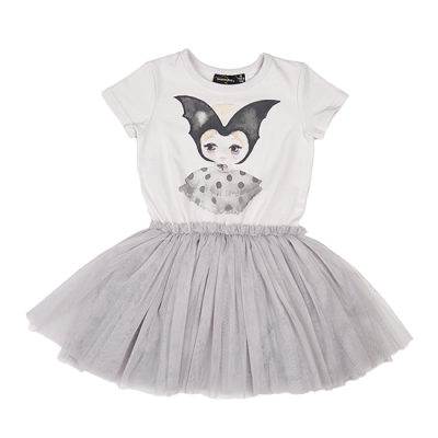 Rock Your kid bat girl circus dress light grey
