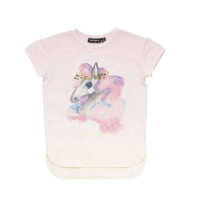 Rock your baby Rainbow Brumby ss T Shirt Cream/Light 3Y-10Y