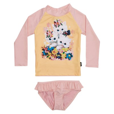 Rock Your Baby Little Kittens - LS Rashie Set Pink 2-7Y Rock Your Kid