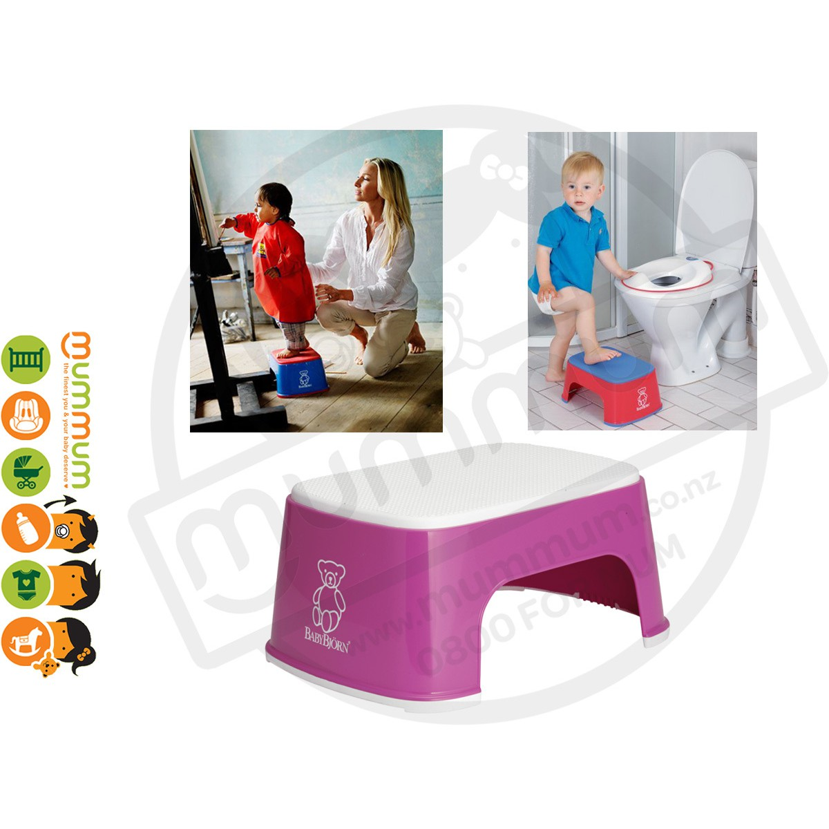 a06a0a3fa7c BabyBjorn Child Non-slip Safe Step Stool Pink
