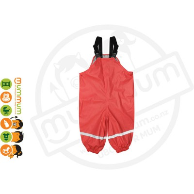 Silly Billyz Waterproof Polycotton Lined Overalls Choose Sizes from M-XL Red