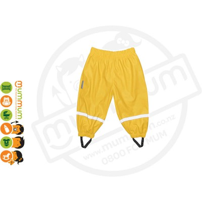 Silly Billyz Waterproof Polycotton Lined Pants Choose Sizes from M-XL Yellow