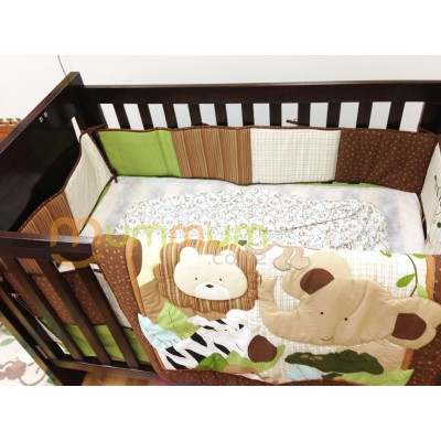 Baby Boy Manchester Cotton Beding Set 4pc Brown