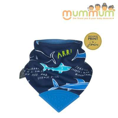 Cheeky Chompers Neckerchew Joules Sharkes Teething Bib