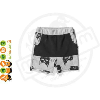 Minti Charcoal Heroes Pouch Short Grey/Black