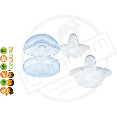 Nuk Silicone Nipple Shield Size L with Container (2PK)