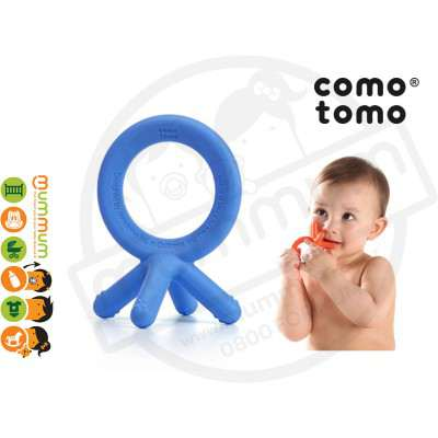 Comotomo  Soft Silicone Teether Just Like Baby Fingers Blue