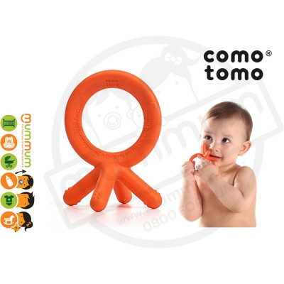 Comotomo Soft Silicone Teether Just Like  Fingers - Orange