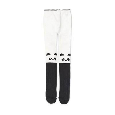 Liewood Silje Cotton Stocking Tights Panda Cream