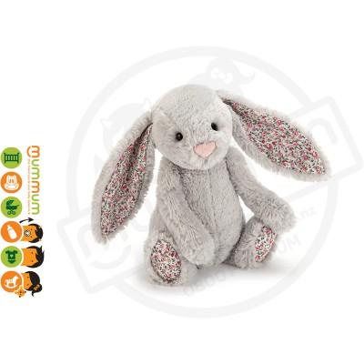 Jellycat Bunny Silver Blossom Medium