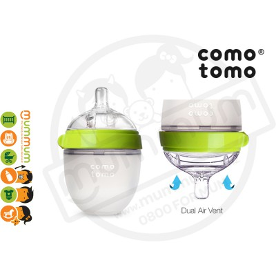 Comotomo Squeezy Silicon Soft Baby Bottle 150ml Green