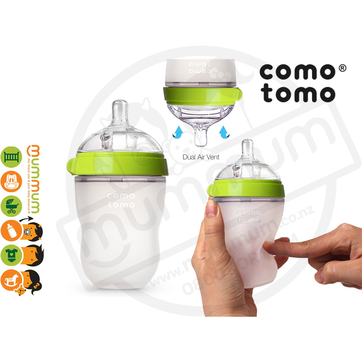 Comotomo 150 Ml Single Pack Pink Squeezy Silicon Soft Baby Bottle 250ml