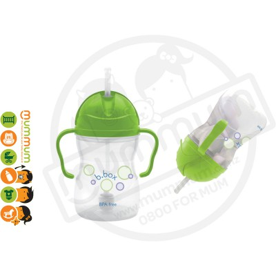 bbox Sippy Cup Apple Green Weighted Straw 6month+