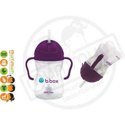 bbox Sippy Cup Grape Purple Weighted Straw
