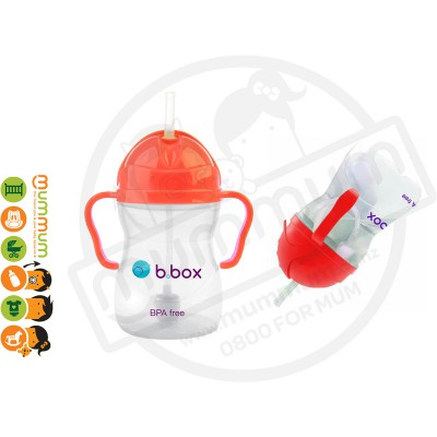 bbox Sippy Cup Watermelon Weighted Straw 6m+