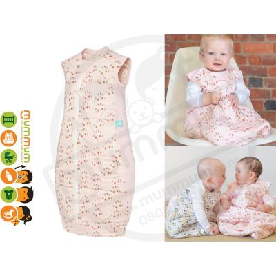 ErgoPouch Winter Sleep Bag , 2.5 Tog Organic Cotton - Pink/Blossom (2-12months)