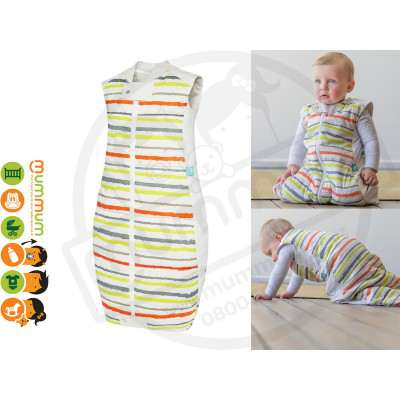 Ergo Pouch Winter Sleep Bag , 3.5 Tog -  Orange/Green/Citrus Stripe (2-12months)