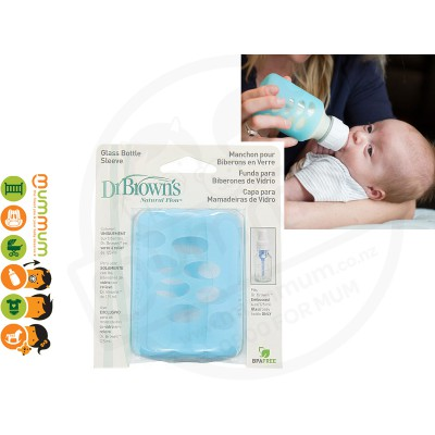 Dr.Brown Glass Bottle Sleeve 125ml Blue Protect Bottle