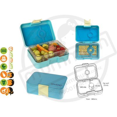 Yumbox Snack Cannes Blue 3-Compartment Food Tray